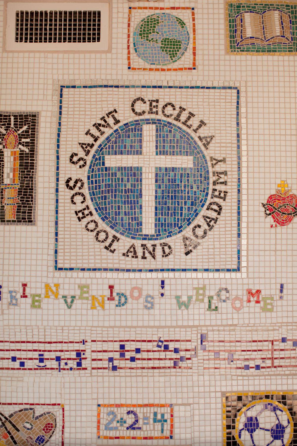 St. Cecilia Logo on Wall