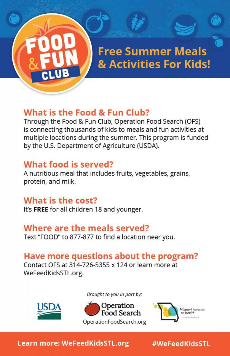 Operation Food Search Food and Fun Club